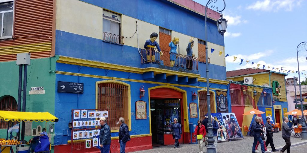 Colourful houses in El Caminito, La Boca